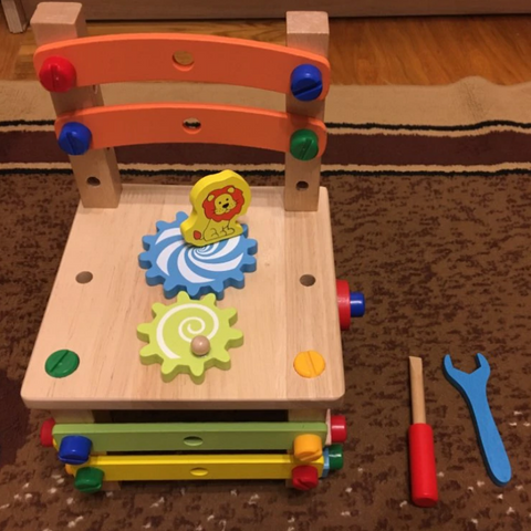 Wooden Chair Assembly Toy