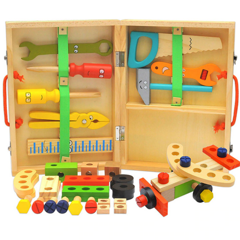 Wooden Assembly Tool Box