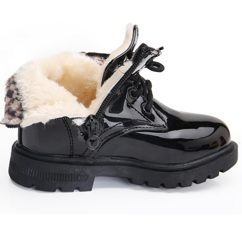 Plush Waterproof Ankle Boots