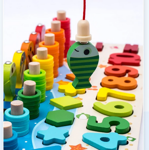 5 in 1 Fishing Wooden Toy
