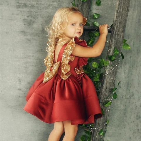 Christmas Sequin Bow Dress