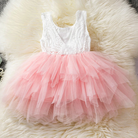 Backless Princess Ruffled Tutu Dress