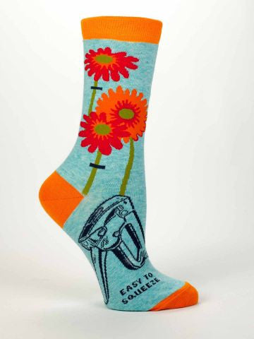 Blue Q Crew Socks - VINTAGE JOURNEY MARKET - Upcycling & Restoration
