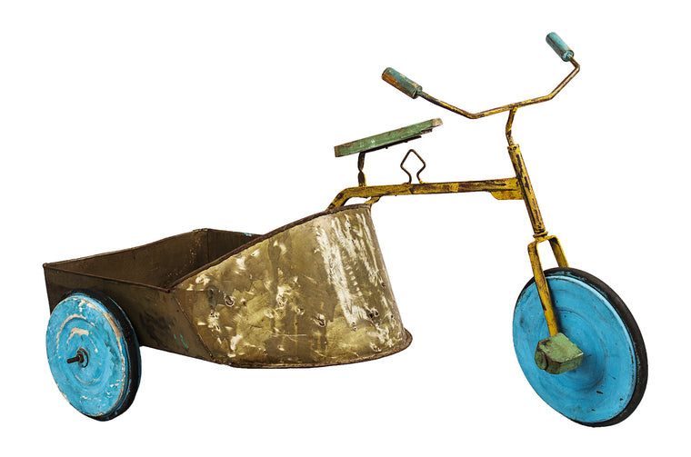Antique Bike with Side Car - VINTAGE JOURNEY MARKET - Upcycling & Restoration
