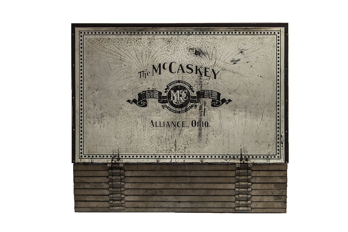 Antique McCaskey Accounting Register Organizer - VINTAGE JOURNEY MARKET - Upcycling & Restoration
