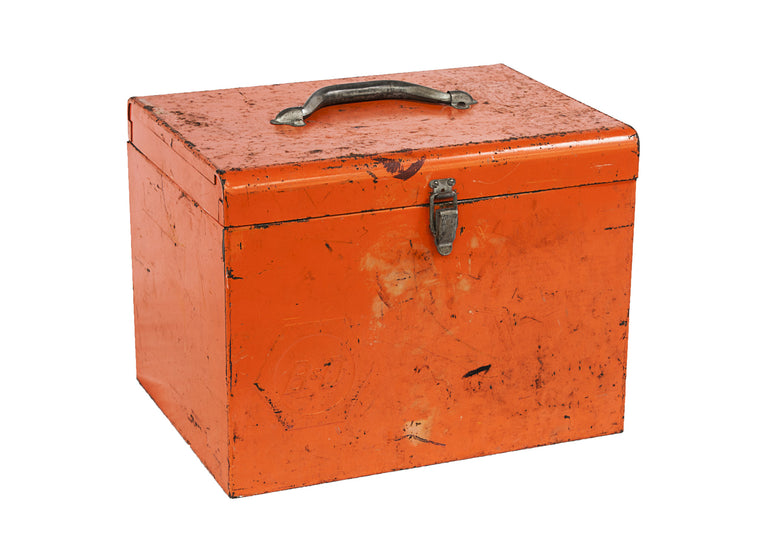 Orange Tool Box - VINTAGE JOURNEY MARKET - Upcycling & Restoration