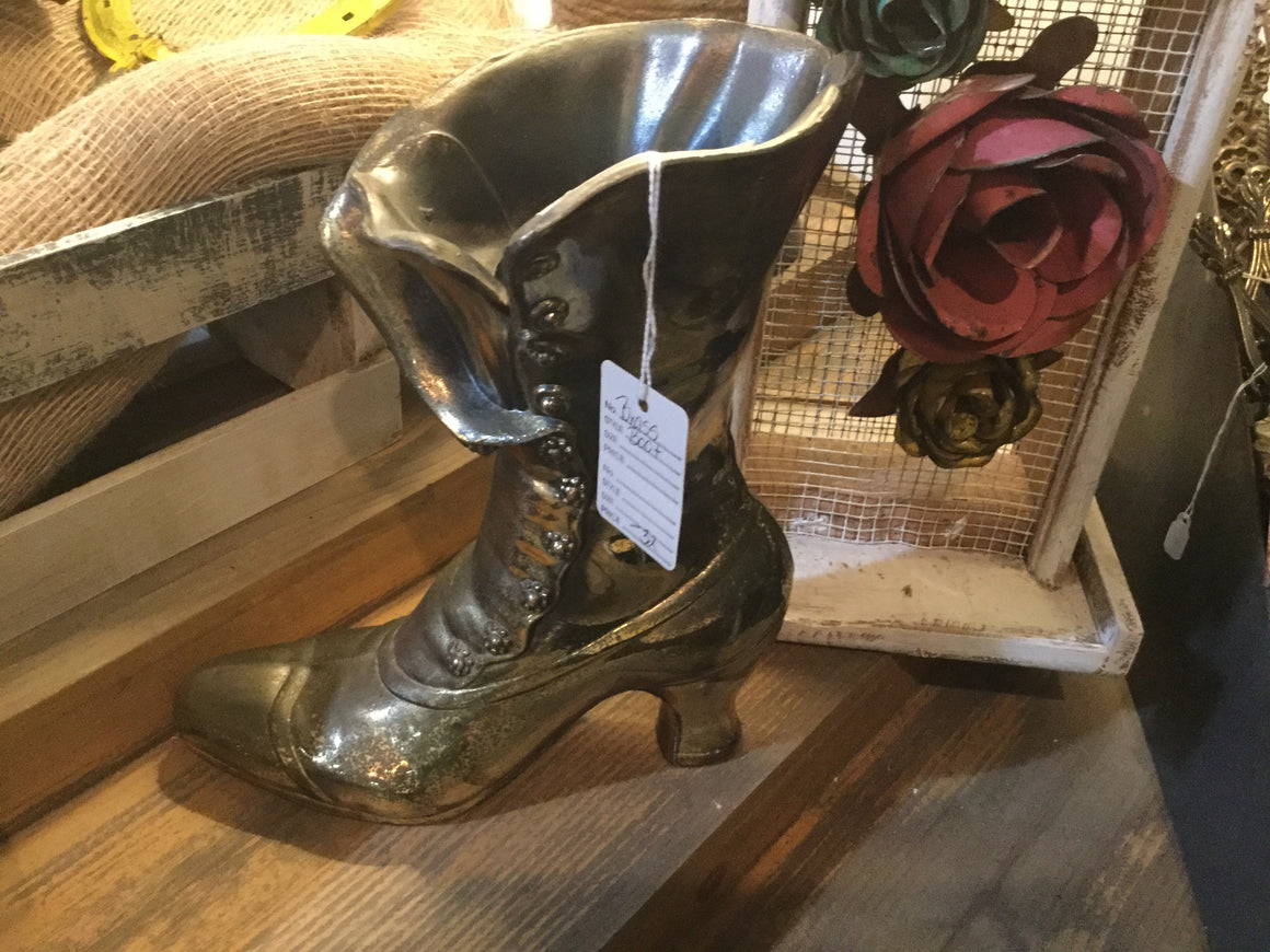 Brass boot - VINTAGE JOURNEY MARKET - Upcycling & Restoration