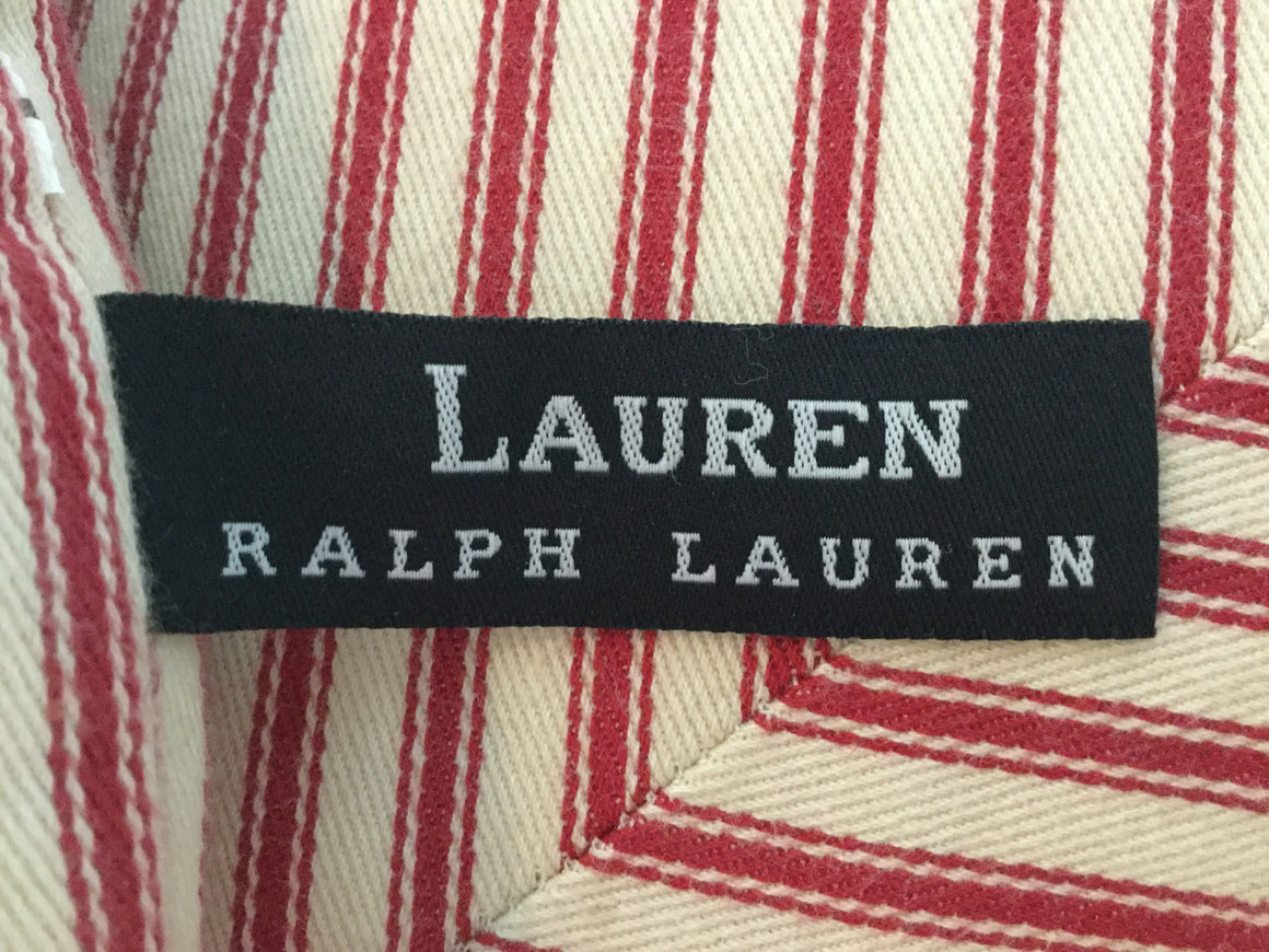 Ralph Lauren red ticking pillow - VINTAGE JOURNEY MARKET - Upcycling & Restoration
