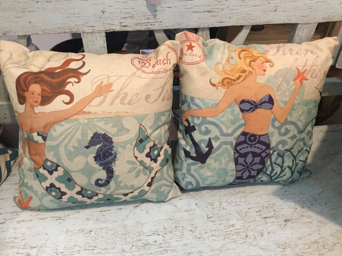 Nautical pillow - VINTAGE JOURNEY MARKET - Upcycling & Restoration