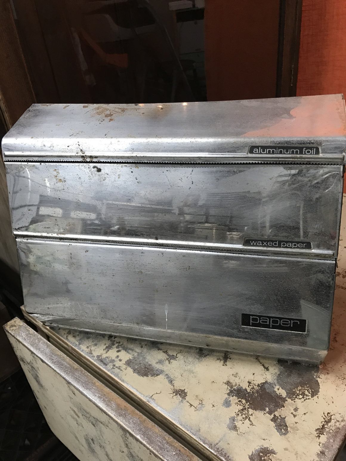 Mid-Century Foil, Waxed Paper and Paper Towel Dispenser - VINTAGE JOURNEY MARKET - Upcycling & Restoration