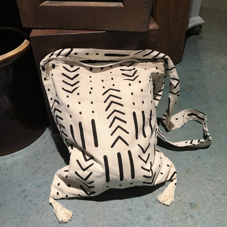 White/Black Boho Bag - VINTAGE JOURNEY MARKET - Upcycling & Restoration