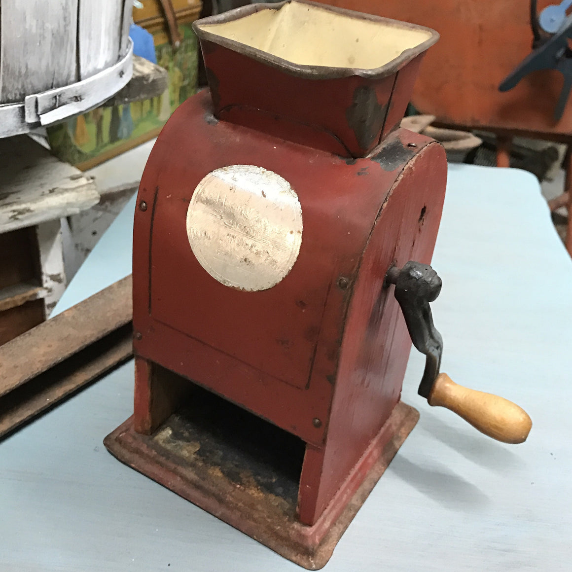 1940's Carl Ramstedt Swedish crank Coffee Mill - VINTAGE JOURNEY MARKET - Upcycling & Restoration