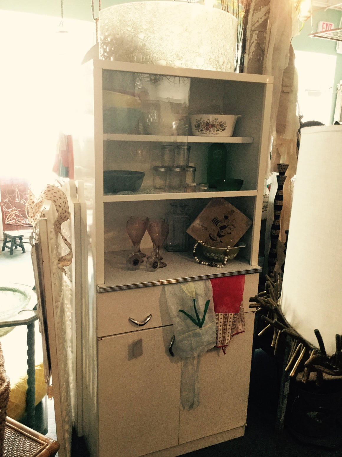 Mid-Century Metal Kitchen Cabinet - VINTAGE JOURNEY MARKET - Upcycling & Restoration