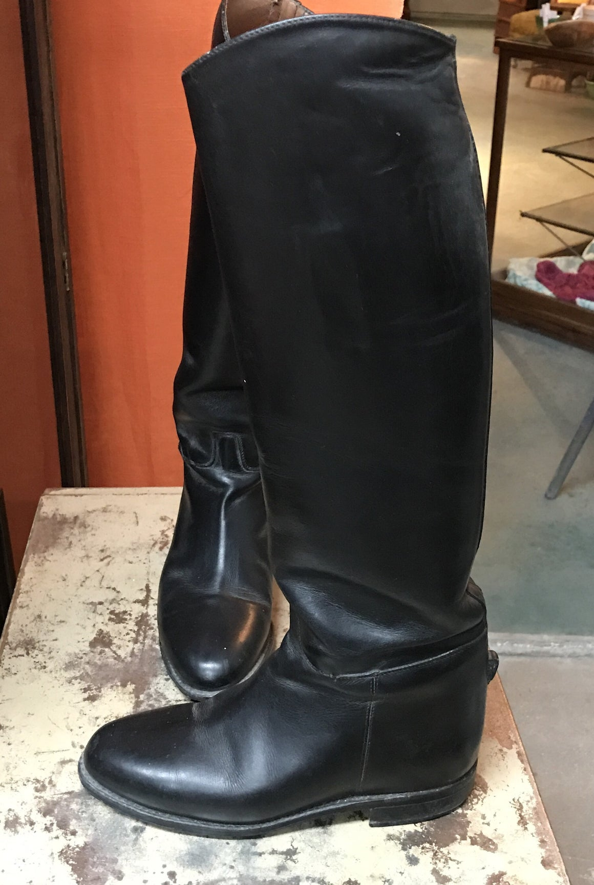 Riding Boots - Pytchley 8.5 Slim Calf - VINTAGE JOURNEY MARKET - Upcycling & Restoration