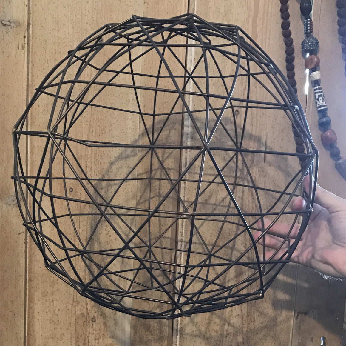 Wire Sphere Lamp Shade - VINTAGE JOURNEY MARKET - Upcycling & Restoration