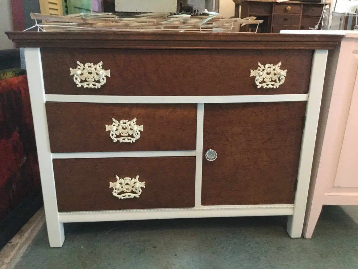 Painted Antique Cabinet/dresser - VINTAGE JOURNEY MARKET - Upcycling & Restoration