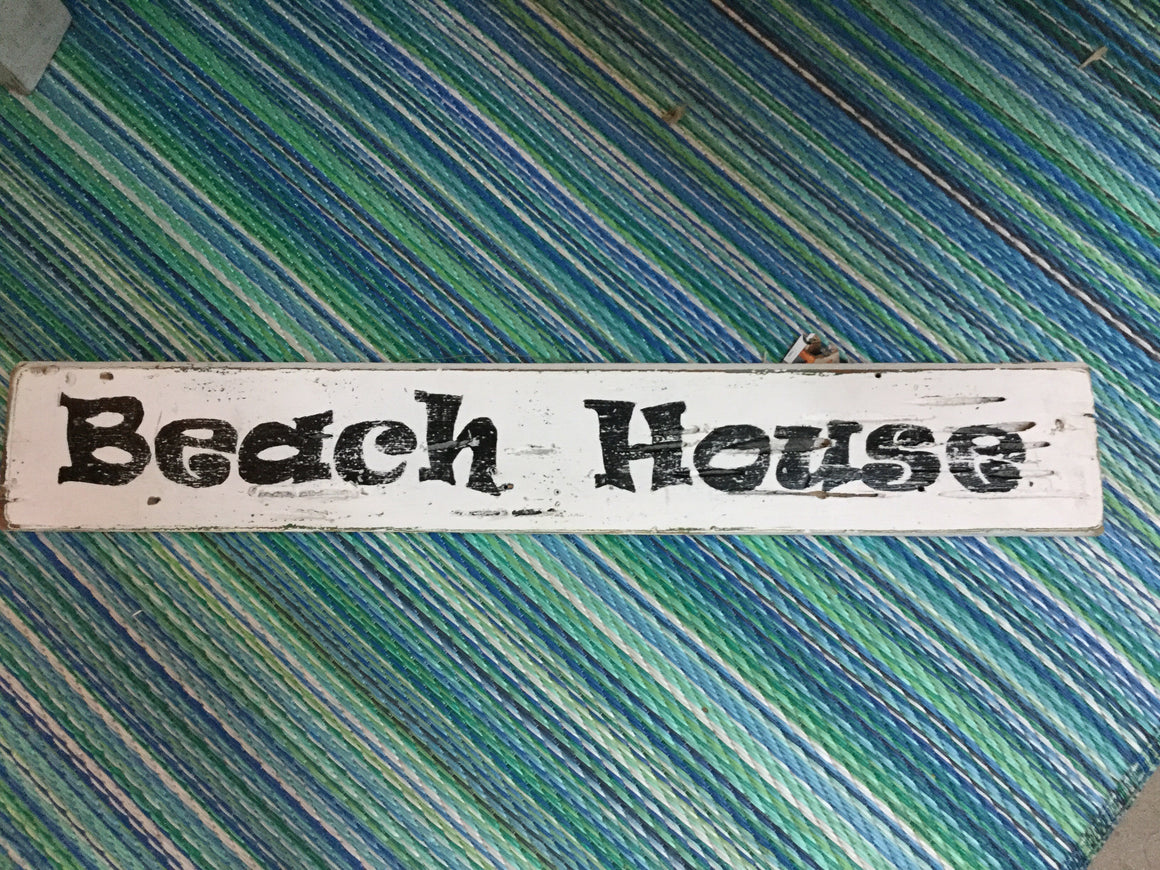 Beach house sign - VINTAGE JOURNEY MARKET - Upcycling & Restoration