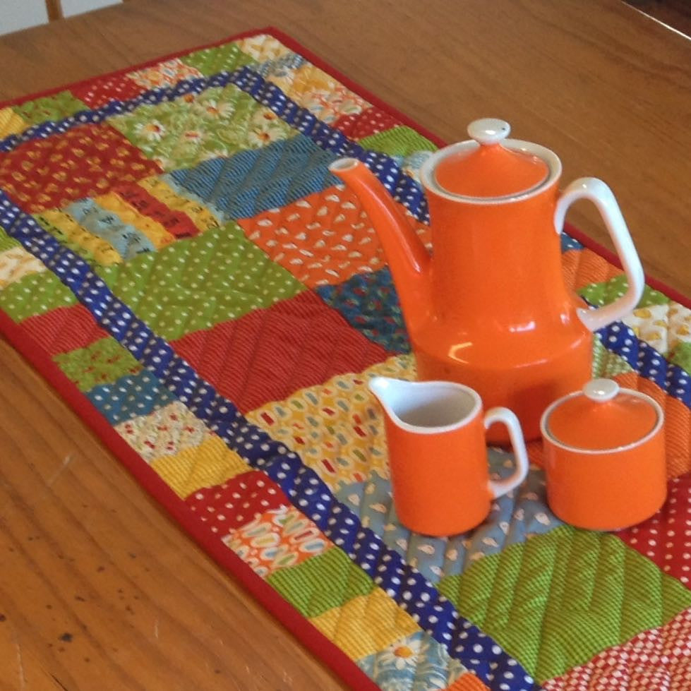 Free Patchwork Pattern - Charm Pack Table Runner