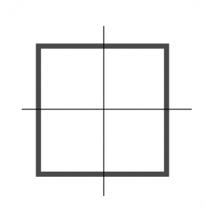 Cutting a Square in 4