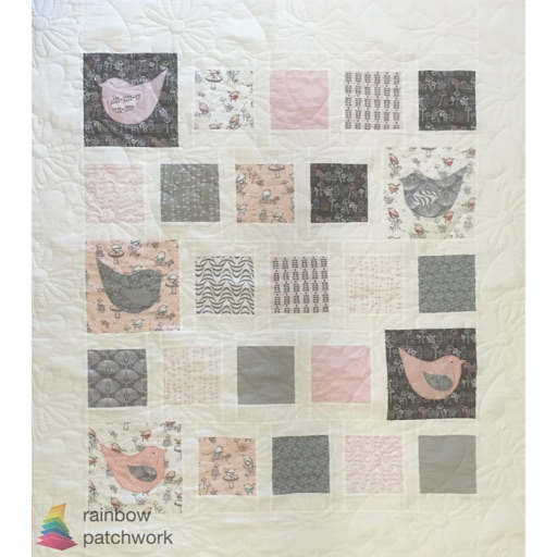 KRP055 Quilt Kit Birdie for Baby 43x 49 (110cm x 130cm)