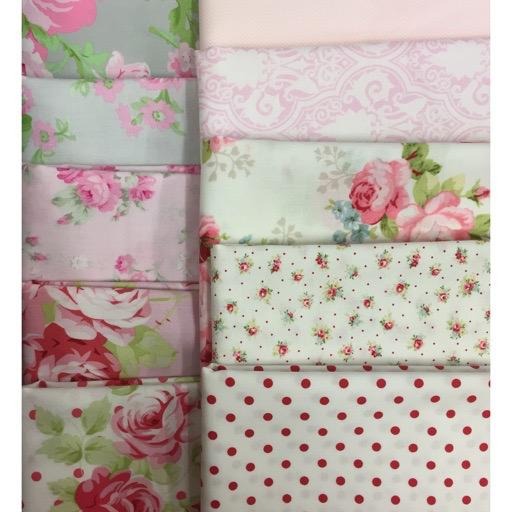 Shabby Chic Roses 1 - 10 pieces, each piece 60cm.