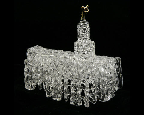 SPUN GLASS  handmade Columbus Ohio LDS Temple