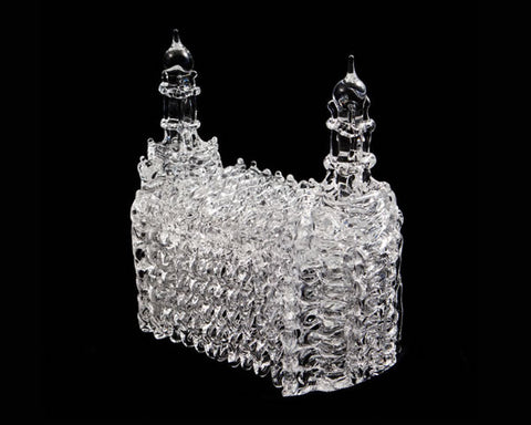 SPUN GLASS  handmade Logan Utah Temple LDS Temple