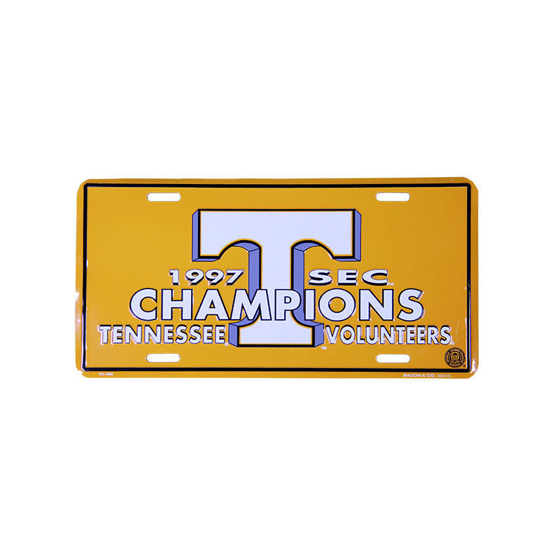 1997 SEC CHAMPS LICENSE PLATE