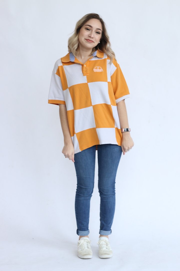 Vintage Tennessee Checkerboard Polo