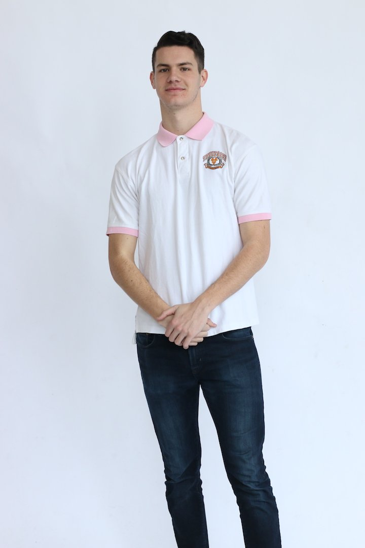 Vintage Tennessee Pink Trim Polo