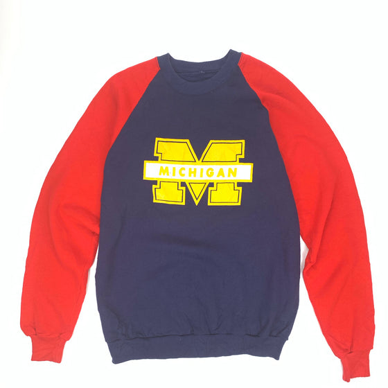 Vintage Michigan Colorblock Crewneck Sweatshirt