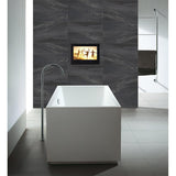 "Soulaca 19"" Black Color Waterproof TV Shower LED display panel Bathroom TV"