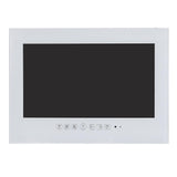 Soulaca 27inch Wi-Fi Frameless Shopping Stock LED TV for Bathrooms White Waterproof Television