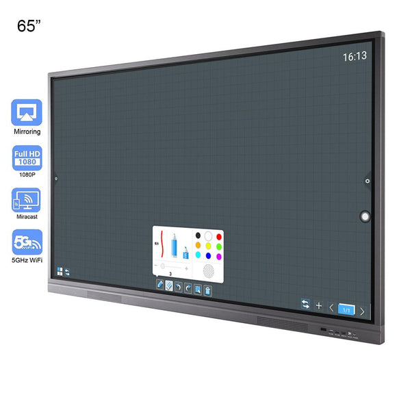 65 inches Multi Touch LCD Display Electronic White Board Interactive Wi-Fi for Meeting Office