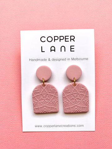 Classics Arch Earrings - Dusty Pink