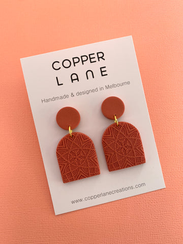 Classics Arch Earrings - Terracotta