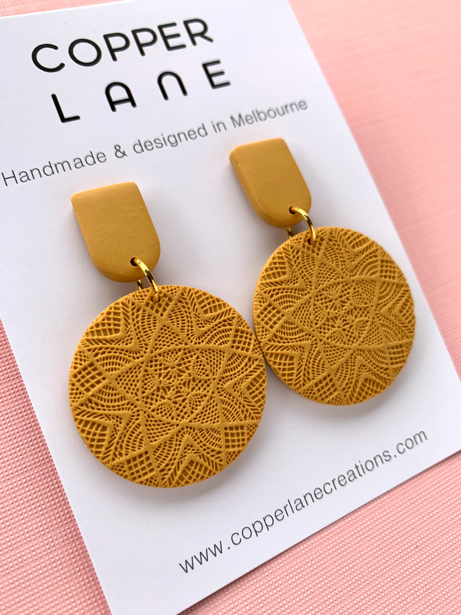 Classics Circle Earrings - Mustard
