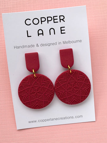 Classics Circle Earrings - Merlot