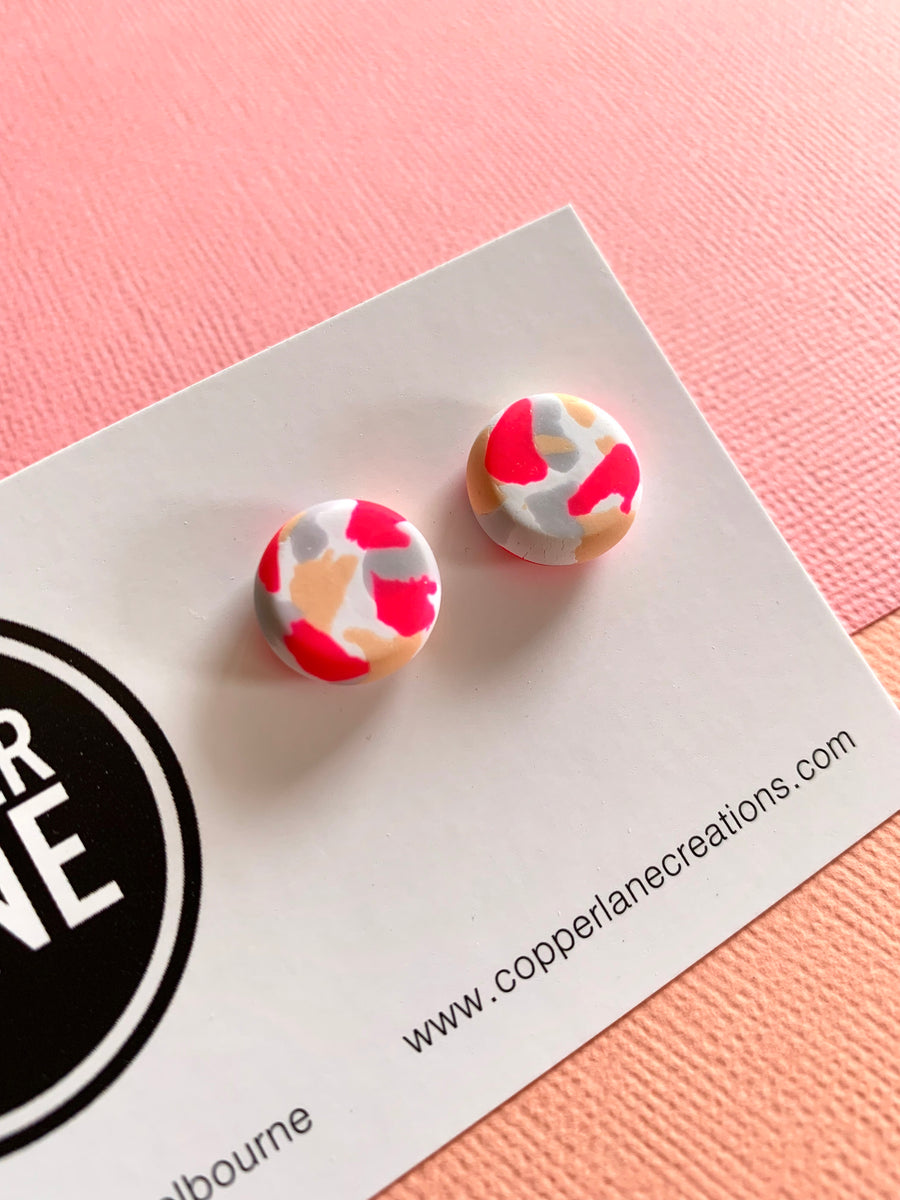 Summer Cocktail Stud Earrings