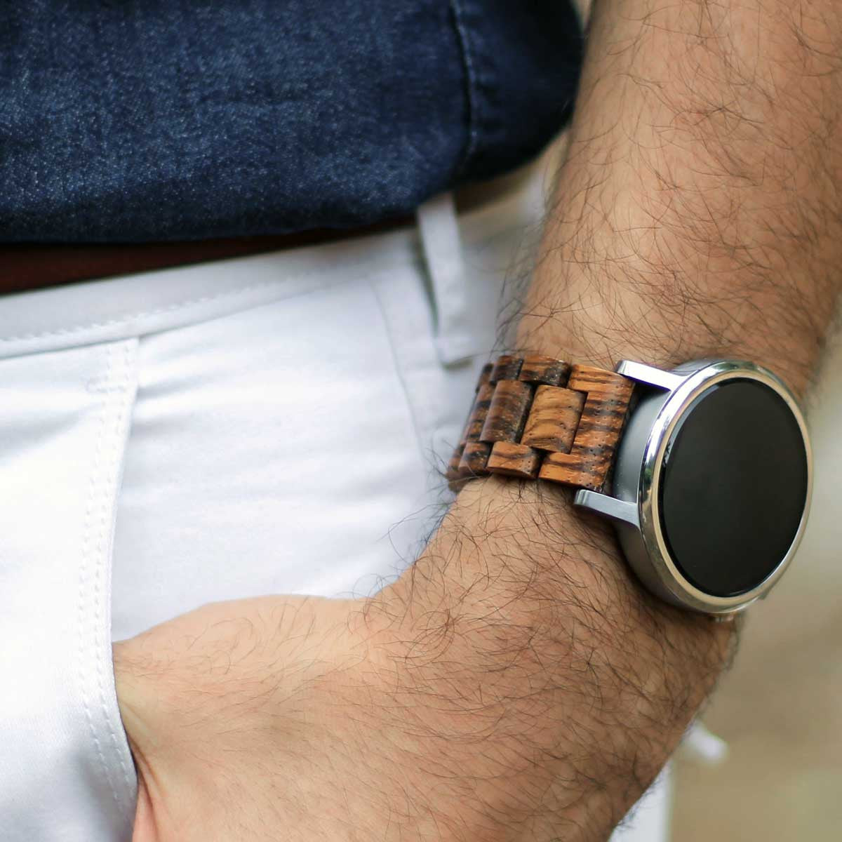 22mm - Gabonese Zebrawood (Android Wear/Pebble)