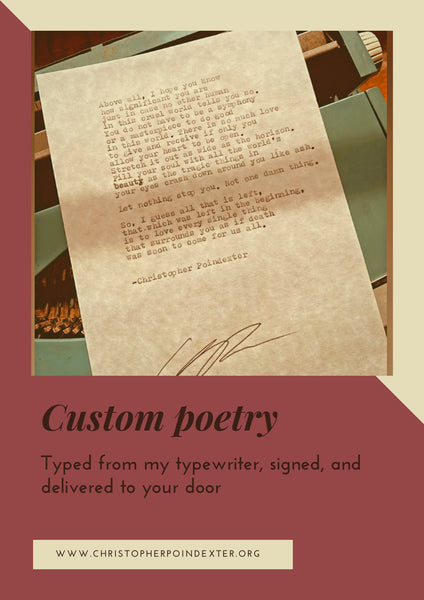 Custom poetry ( Your story, my pen )