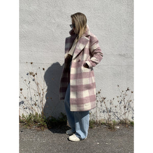 Mauve Check Coat