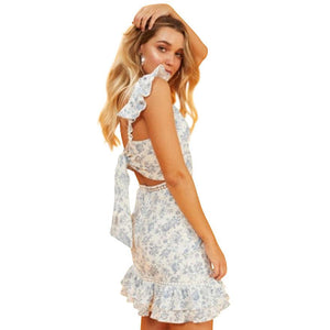 Sky Rose Mini Dress