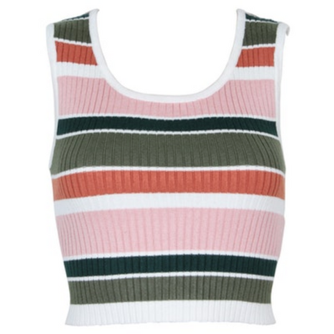 Open Air Stripe Crop Top