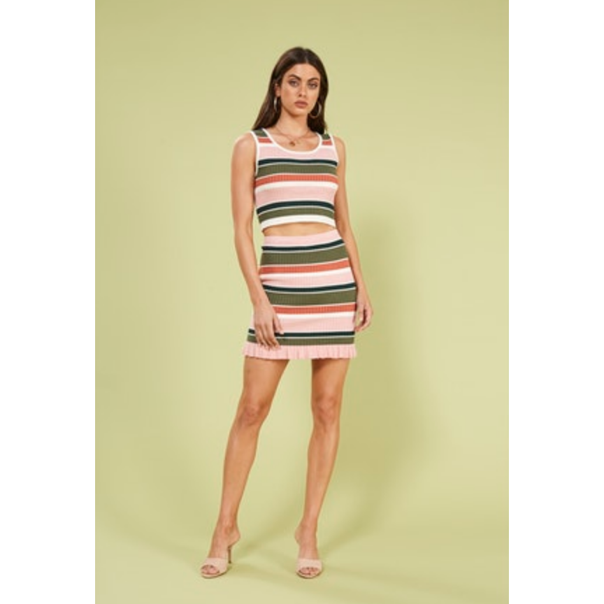 The Open Air Stripe Mini Skirt