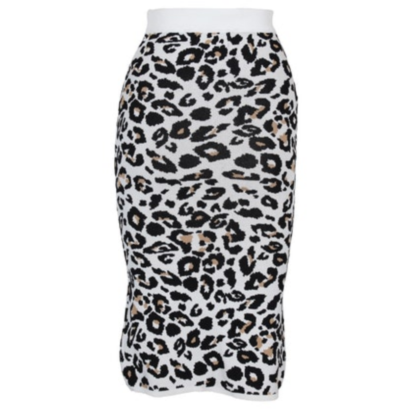 City Cat Split Midi Skirt