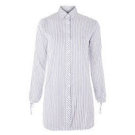 White/Blue Stripe Button Down Shirt
