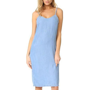 Icon Denim Slip Dress