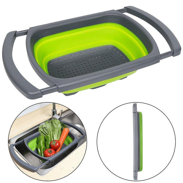 EasyFoodzy™ Collapsible Over the Sink Colander