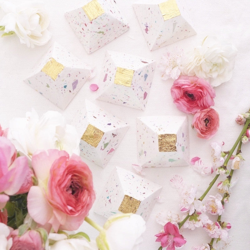 Confetti Gold Leaf Soap Pyramid - CleanseByHepzabeth